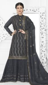 Festive Look in Sharara Suit Collection